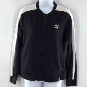 Puma Black White Zip Up Jacket Excellent Condition